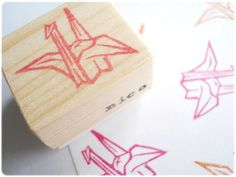 Hey, I found this really awesome Etsy listing at https://www.etsy.com/listing/150167999/origami-crane-stamp-japanese-origami