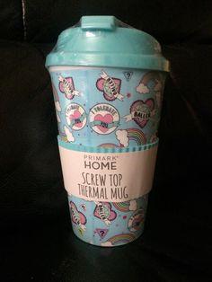 85d21155116 Primark DISNEY Thermal Travel Mug Blue Baller 'I Tolerate You' Screw Top Mug  Thermal