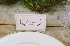 woodsy place card ideas
