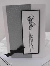 Handmade stampin up card with envelope - funeral card, Handgemachte Stampin up Karte mit Umschlag – Trauerkarte, Beileid Funeral Cards, Karten Diy, Handmade Stamps, Sympathy Cards, Calla Lily, Flower Cards, Flower Wall, Diy Cards, Stampin Up Cards