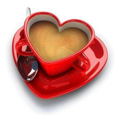 Fabulous heart shaped cup & saucer