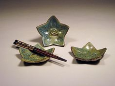 Three Ceramic Star Dishes by NicePots on Etsy, $15.00