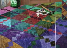 Splashes Of Color Quilt Pattern Pieced LH