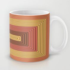 Rectangles gamboge and vermilion Mug by aapshop - $15.00