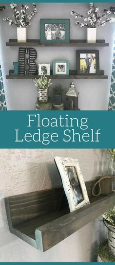 Floating Ledge Shelf, Home decor, Rustic wall decor, Rustic shelf, Picture Shelf, Farmhouse Shelf, Rustic decor, Picture, Farmhouse Decor shelves, living room wall decor, gallery wall #ad