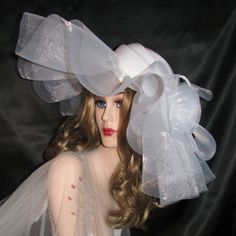 White Couture Wedding Hat