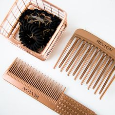 The Revlon Perfect Style Thick and Curly Combs are enhanced with IONIC  TECHNOLGY® to help reduce static for maximum shine! Elastics available at  Walmart. bc51d6e20c2