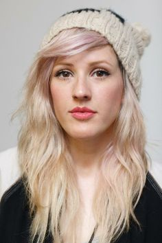 Love her (Ellie Goulding) hair. With just a hint of pink in the front.