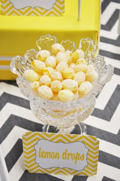 Yellow and Grey Bridal shower tea party type theme?