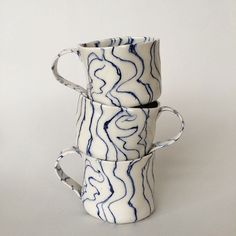 Blue series-off you go to @youngxable #ceramic #porcelain #nerikomi