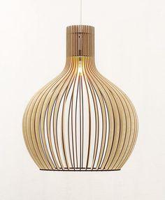 Al ASSEMBLED houten lamp / houten hangende lamp / hanglamp /