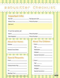 babysitter checklist thumb