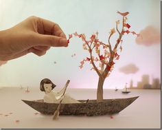 Beautiful 3D Paper craft  by Elly MacKay's