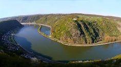 Rheinland-Pfalzl, 55430 Urbar Loreley: Pauschalangebote Erlebnis am Rhein. YouTube: Flug am Loreley-Blick - #deutschlandurlaub