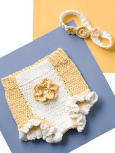 Crochet for Babies & Children - Crochet Gift Patterns for Babies & Kids - Free Crochet Pattern -- Sunshine & Flowers