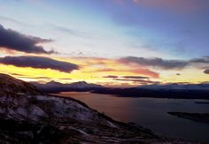 Sunset over the fjords - Tromsø, Norway.