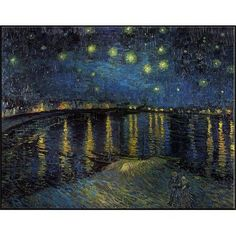 Gallery Direct Starry Night Over the Rhone by Van Gogh Framed Painting Print Size: