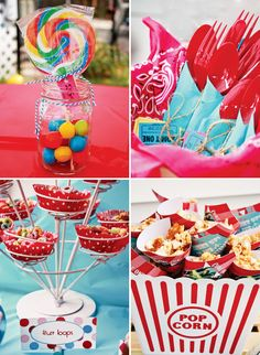Circus theme for your 4th of July event. Tiffany of Taste{Full}. via @Hostess with the Mostess