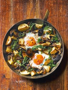 "intensefoodcravings: ""Baked Eggs with Mushrooms, Potatoes, Spinach and Gruyère 
