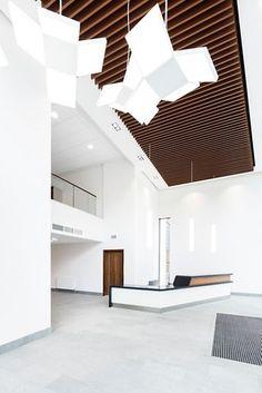 bespoke vp 500 metal baffles in new lobby area - Metal Tile Canopy Interior