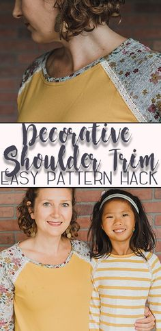 how to sew a shirt with a decorative shoulder seam sewing hack from Life Sew Savory Sewing Patterns For Kids, Sewing For Kids, Free Sewing, Pdf Patterns, Sewing Shirts, Sewing Clothes, Diy Clothes, Sewing Hacks, Sewing Tutorials
