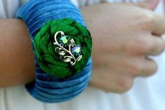 bracelet from orange poppy