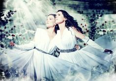 Tarja Turunen (former front lady for Nightwish), and Sharon den Adel: Front lady for Within Temptation.