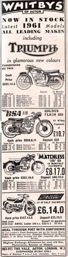 Classic Triumph Motorcycles, Triumph Motorbikes, Triumph Bikes, British Motorcycles, Old Motorcycles, Triumph Bonneville, Bsa Motorcycle, Motorcycle Posters, Side Car