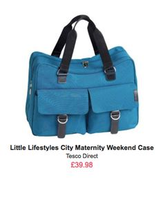 Little Lifestyles City Maternity/Weekender Bag in Teal Tesco Direct, Changing Bag, Hospital Bag, Best Bags, Diaper Bag, Cool Things To Buy, Maternity, Teal, Lifestyle