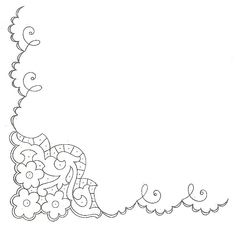 Corner motif Floral Embroidery Patterns, Cutwork Embroidery, Embroidery Needles, Cross Stitch Embroidery, Embroidery Designs, Free Stencil Maker, Bordados E Cia, Parchment Craft, Cut Work