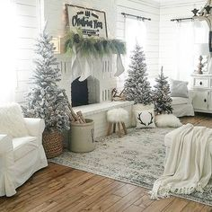 hickory wood floor, pale Christmas