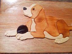 Beaglepuzzle aus Laubholzsägeplatten und WENGE Edelholz ...