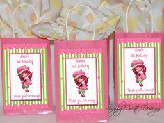 Strawberry Shortcake Favor Tag DIGITAL FILE by SimplyCreateDesigns, $5.75