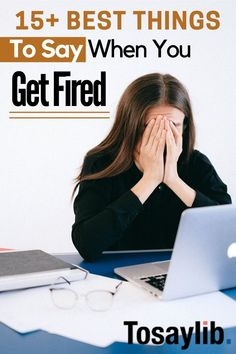 When you get fired, you're expected to have a comment for your manager and co-workers. You're also expected to figure out what to say to your family and friends. Lastly, when you get fired, it's important to know what to say to a future employer as this plays a huge role in whether you get hired or not. #whattosaywhenyougetfired Stress And Anxiety, Ways To Save Money, Money Saving Tips, Job Interview Tips, Debt Consolidation, Get Out Of Debt, Managing Your Money, Debt Payoff, Lifestyle