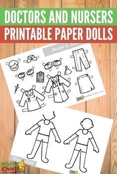 Free Printable Doctors and Nursers Paper Dolls