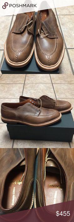 🔥NIB Alden of New England shoes🔥 Brand New Alden of New England NST Tie w/pre-stitch Natural chrome Excel.   Size 13D. Alden Shoes Oxfords & Derbys