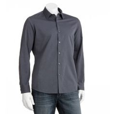 Marc Anthony Slim-Fit Dobby-Striped Casual Button-Down Shirt - Men - product - Product Review