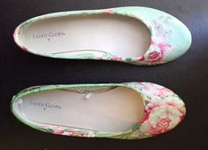 DIY fabric covered shoes