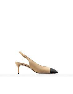 $875 Spring-Summer 2017 Pre-Collection - suede goatskin & grosgrain-beige & black