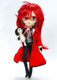 OMG I WANT THIS DOLL! GRELL MY MOST FAVORITE ANIME CHARACTER IN THE WORLD :P