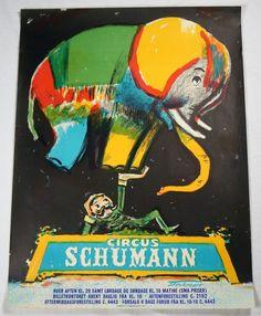 Original Vintage Circus Schumann Elephant by ACuriousCollector