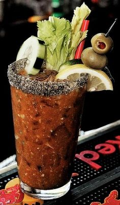 bloody mary with embellishments