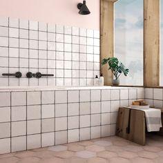 La Riviera Blanc (White) Gloss 132x132 Ceramic Square Wall Tiles - Designer Tile Company White Bathroom, Bathroom Wall, Bathroom Tiling, Bathrooms, Bathroom Interior, Heritage Rose, Tiles Direct, Electronics Storage, Kitchen Tiles