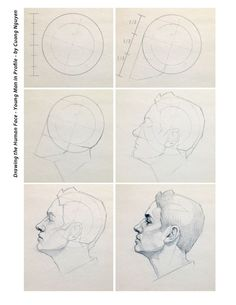 Drawing the human face - Young man in profile - by Cuong Nguyen