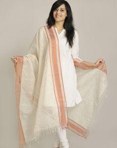 Silk Cotton Maheshwari Printed Leher Dupatta