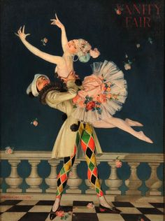 Vanity Fair by Frank Xavier Leyendecker Colombina and Arlecchino