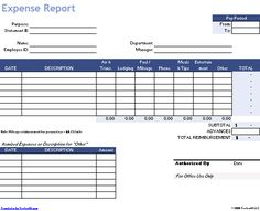 Download the Travel Expense Report from Vertex42.com