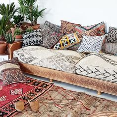 Make your space unique with these gorgeous custom designed XL double floor cushions. The pouffes are made from beautiful vintage Moroccan Beni Ourain rugs. Perfect for lounging and giving your imterior a cozy yet elegant touch.