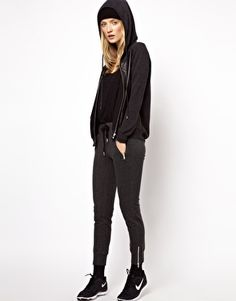 Image 4 of The Kooples Sport Knit and Leather Sweater