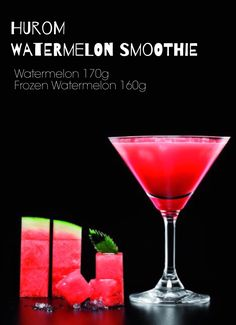 WATERMELON SMOOTHIE  (HOW TO MAKE)  1. Remove the peel of the watermelon and cut them into proper size.   2. Squeeze the watermelon and the frozen watermelon alternatively.   *Please follow the order of squeeze ingredients